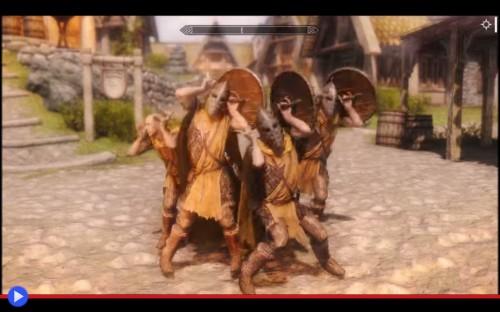 Dancing Skyrim