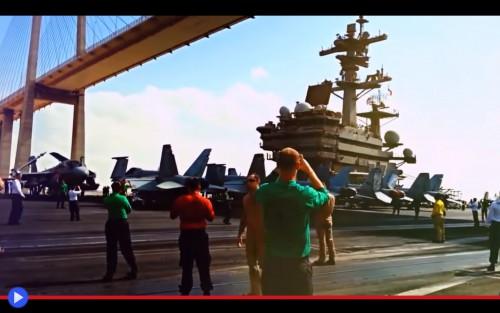 USS Bush Suez Canal